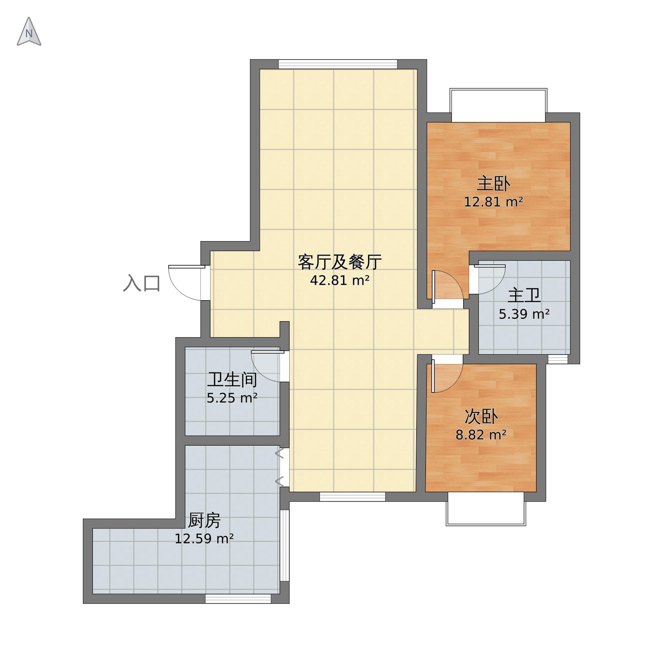 2室1廳1衛