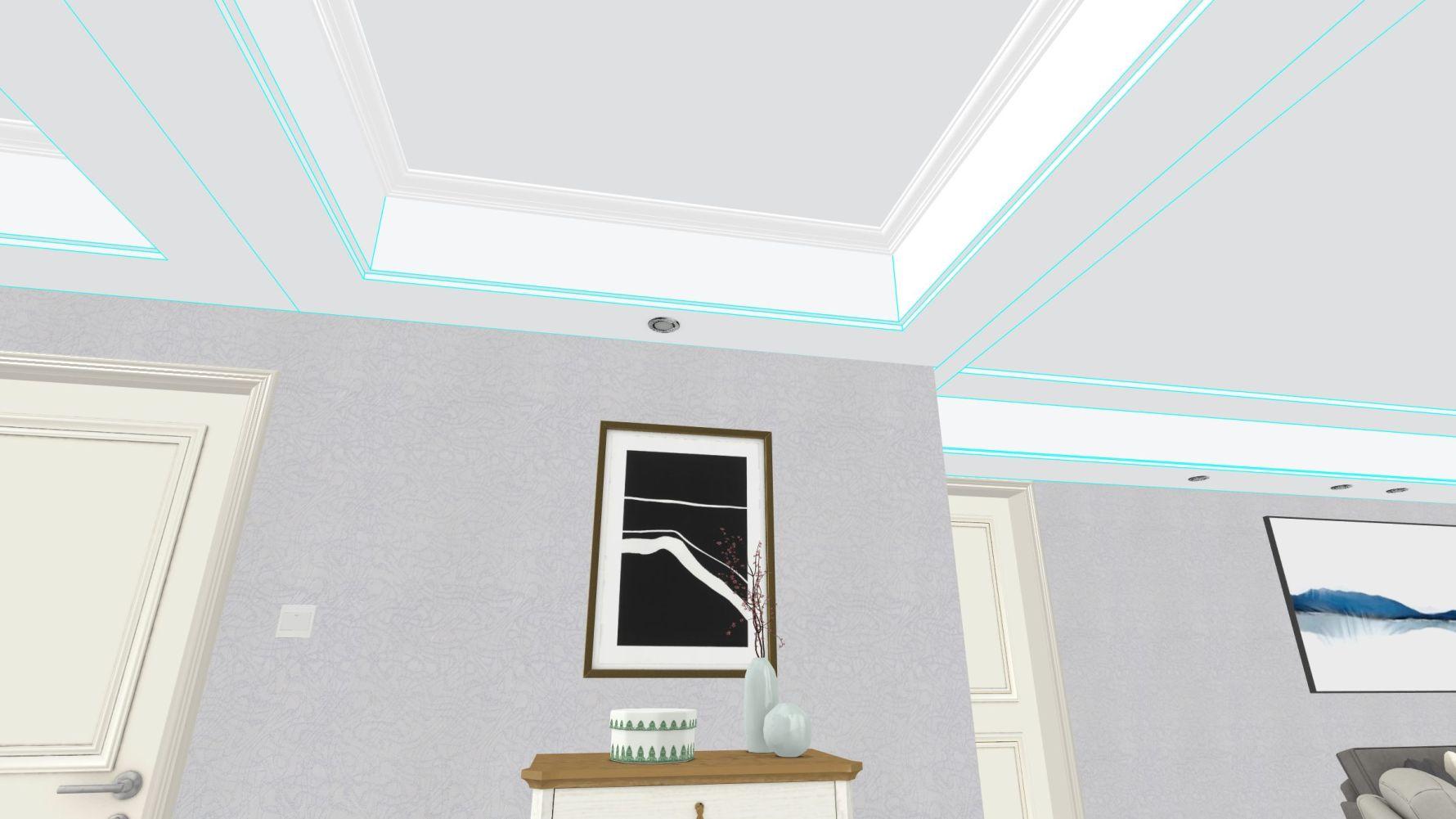 其它风格三室一厅装修设计图