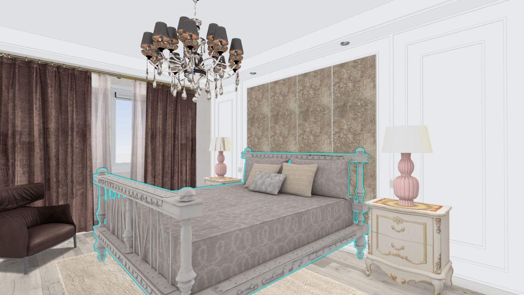 新古典风格四室两厅装修设计图