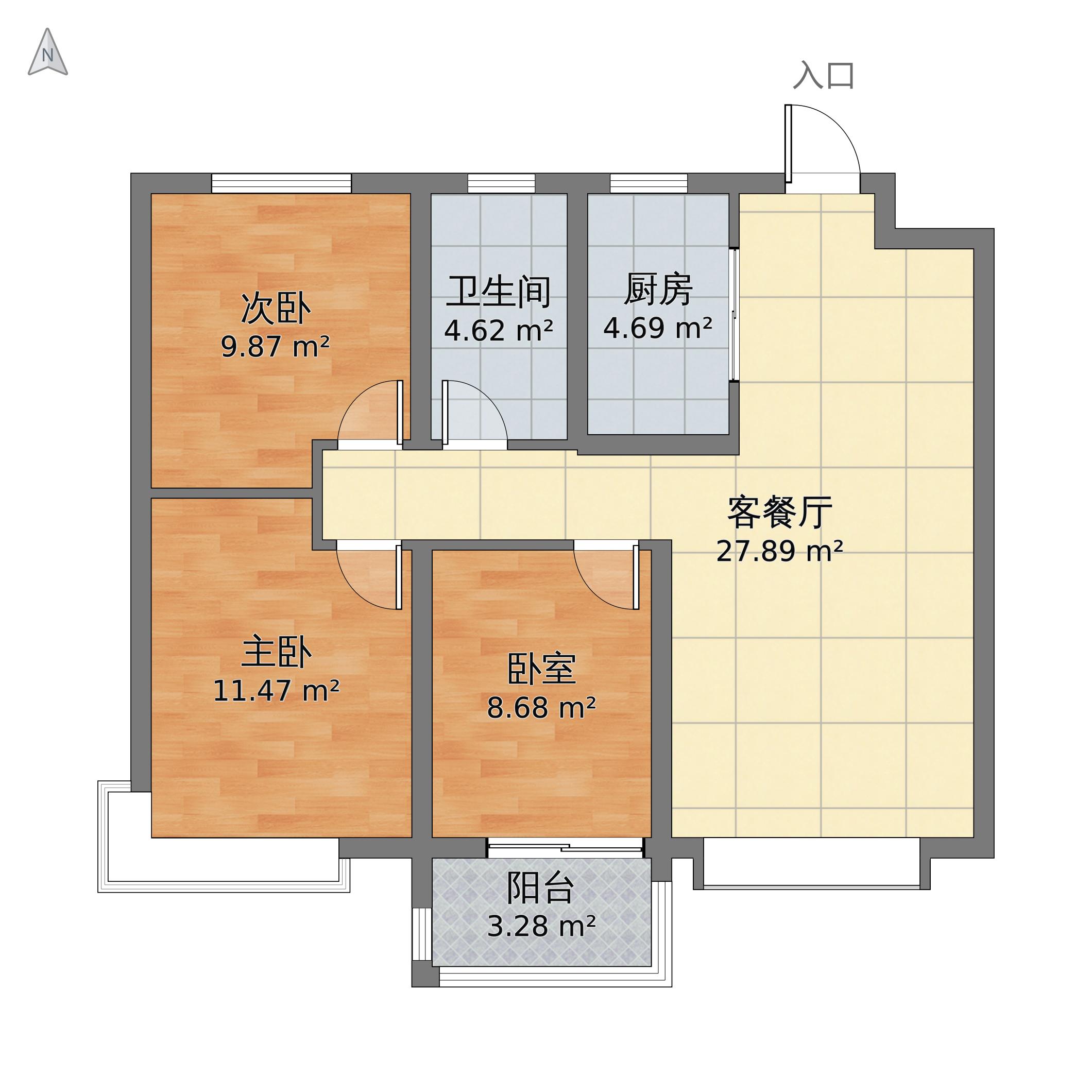荣盛·锦绣学府113户型图