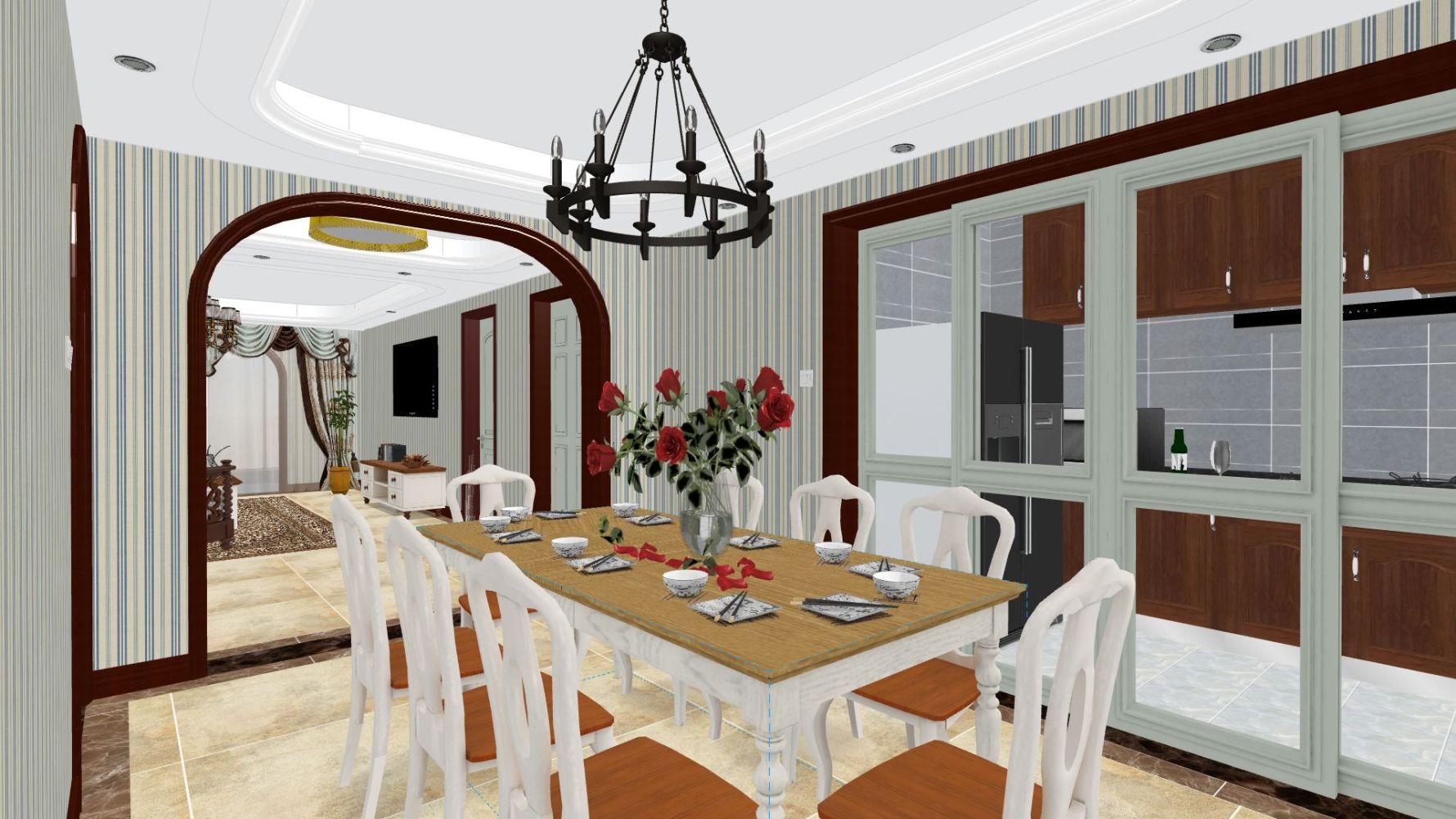 地中海风格四室两厅装修设计图