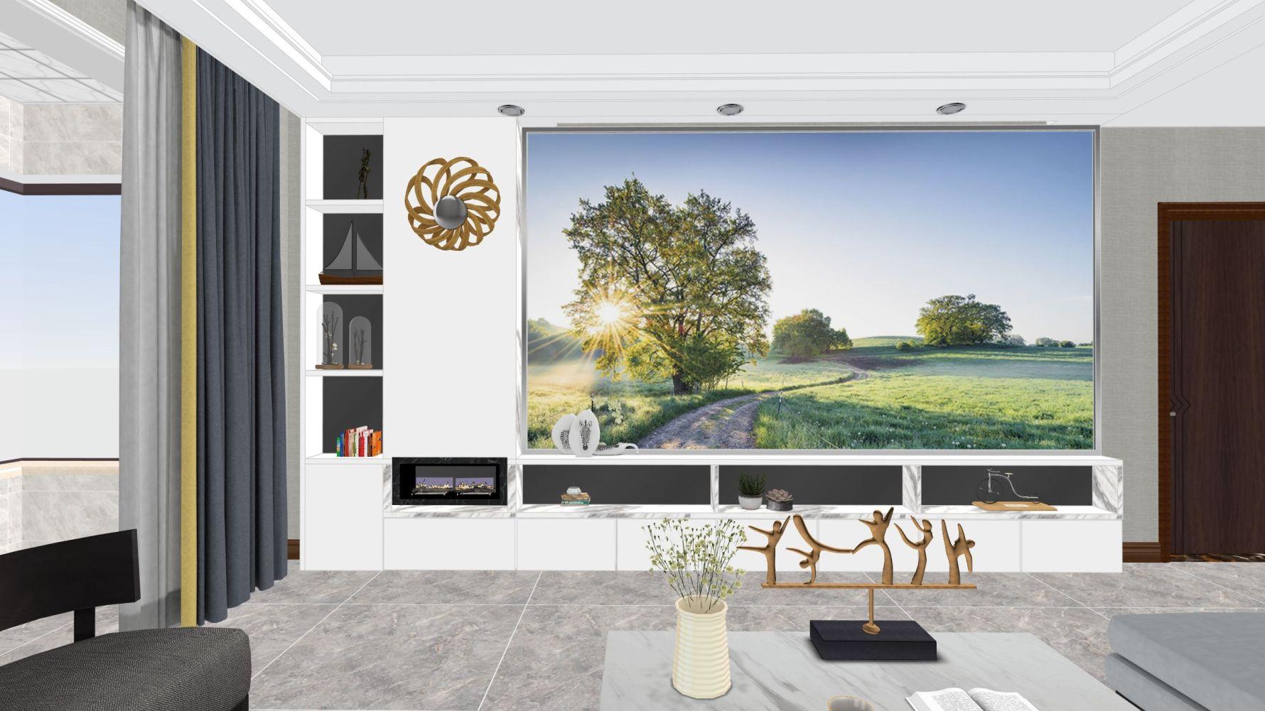 北欧风格三室两厅装修设计图