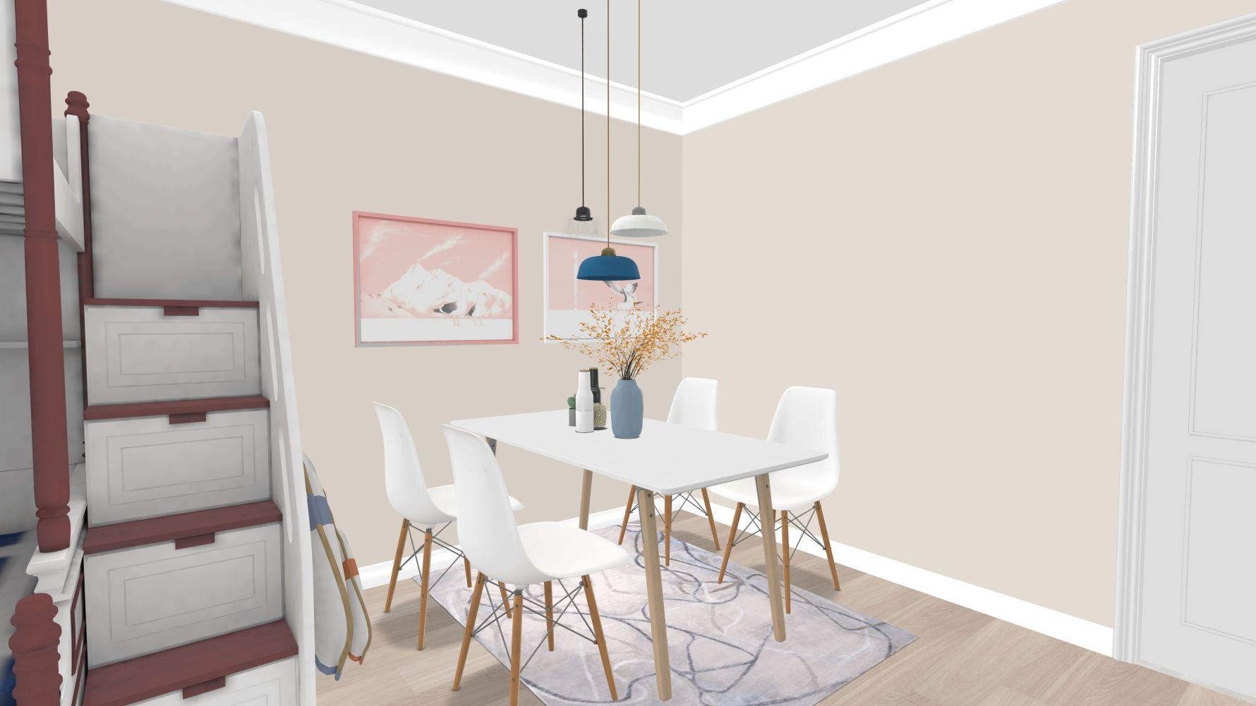 北欧风格两室null装修设计图