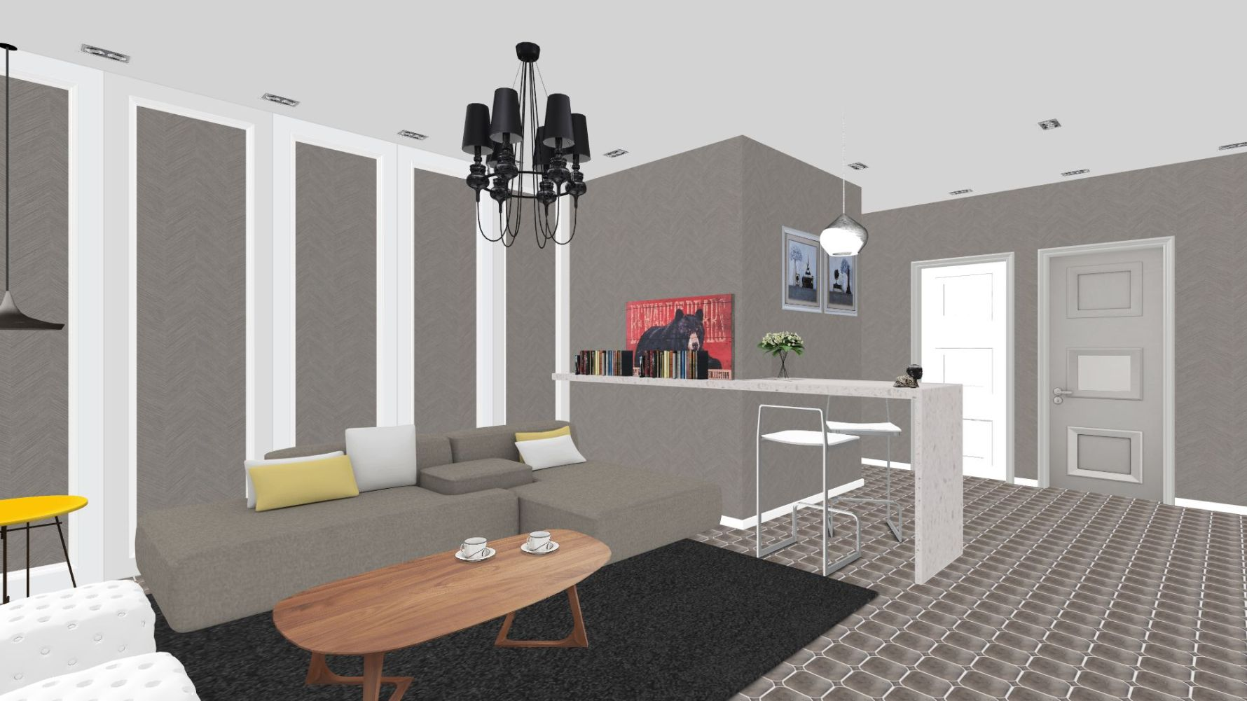 田园风格两室一厅装修设计效果图