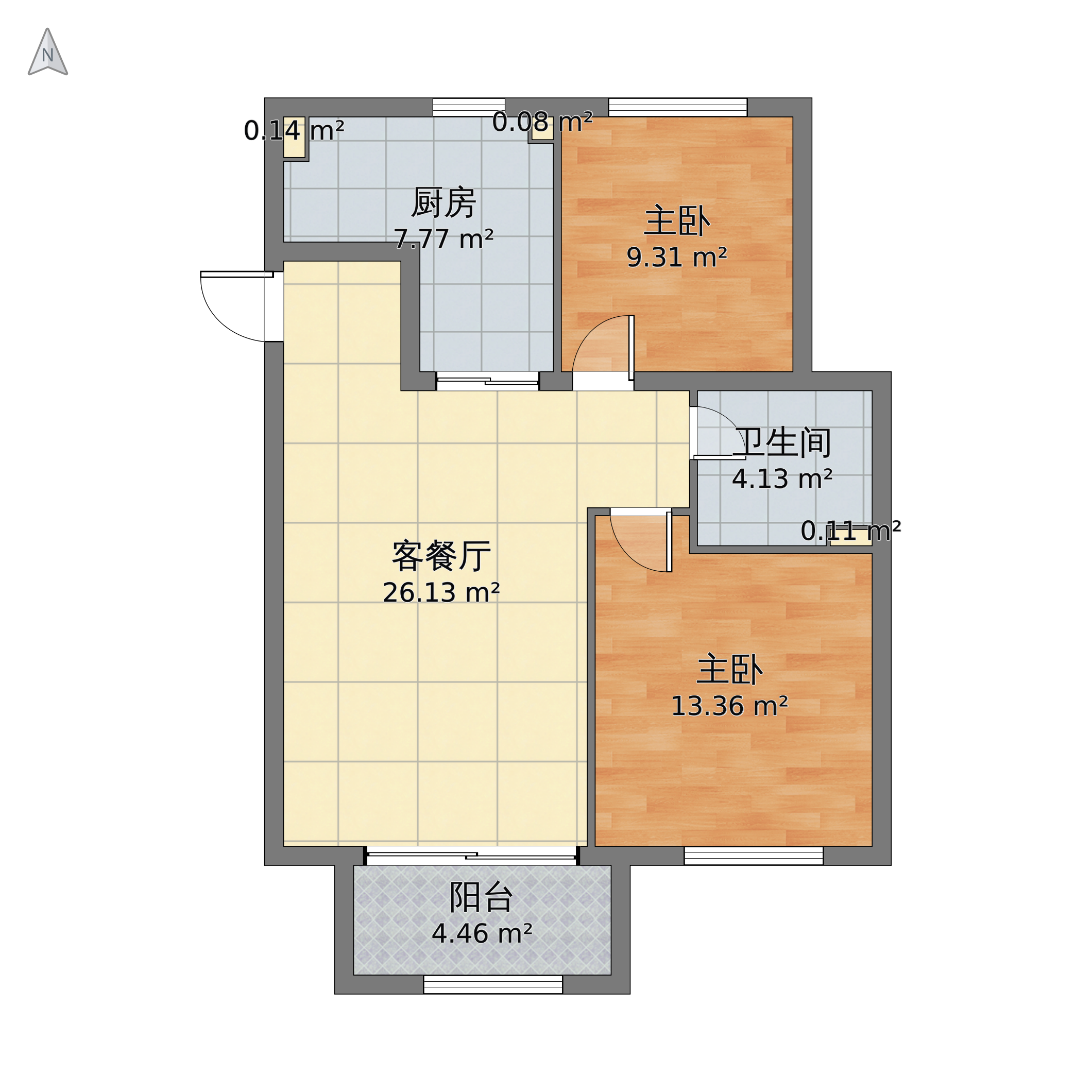 理想城18号楼户型图