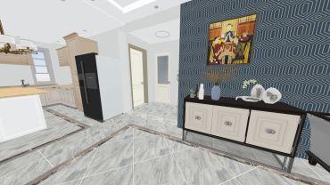 新古典风格三室两厅装修设计效果图