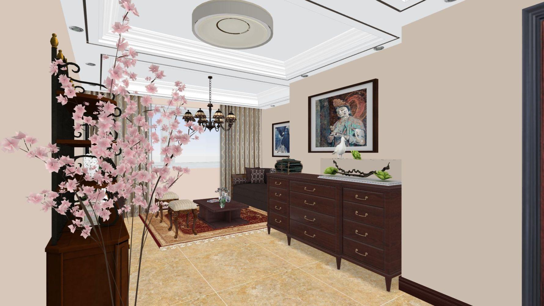 东南亚风格两室一厅装修设计效果图