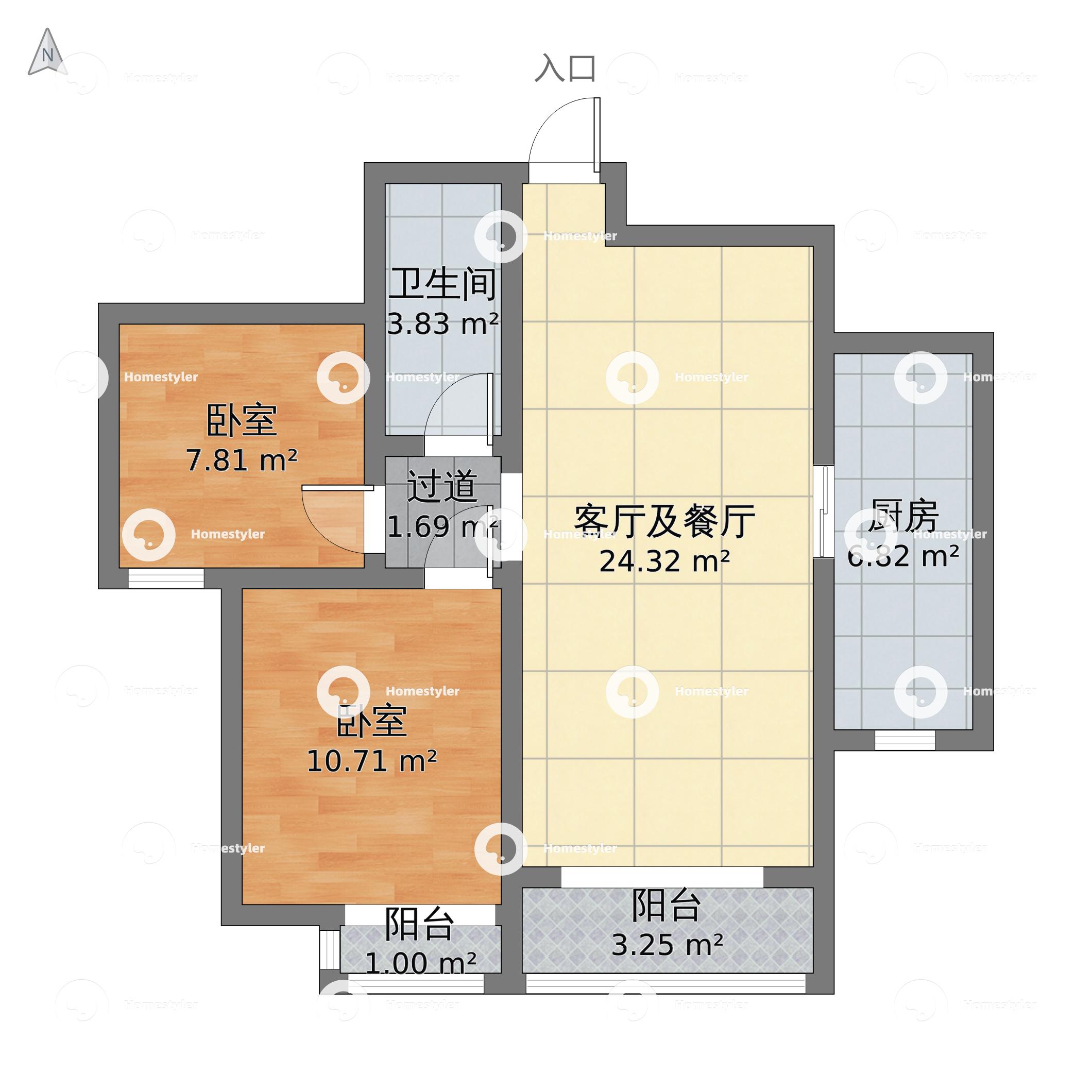华业东方玫瑰C区小区户型图