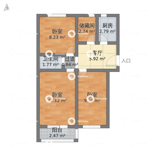 检测厂宿舍楼小区户型图