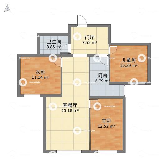 北京市海淀区三里河路建设部大院号院户型图
