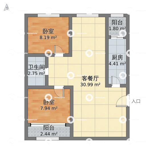 半壁店六建宿舍户型图