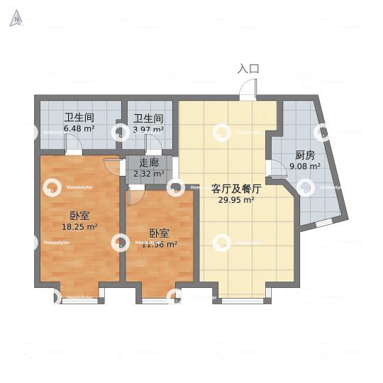 悠唐麒麟公馆ELITE公寓区9号楼2座02户型户型图