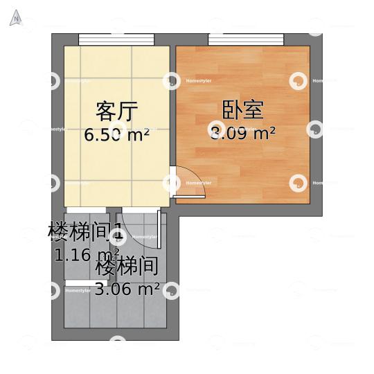 北京理工大学社区二层户型图