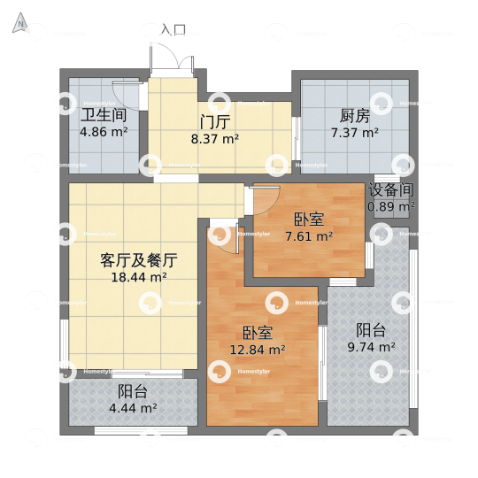 金源财富广场户型图