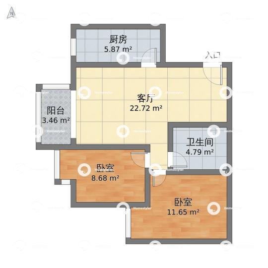 赵公口-彩虹城四区户型图