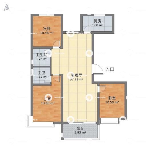 荣盛·锦绣学府138户型图