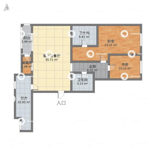 悠唐麒麟公馆ELITE公寓区9号楼1座03户型户型图