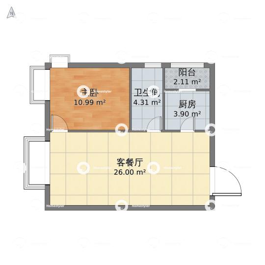 北京城建・筑华年户型图
