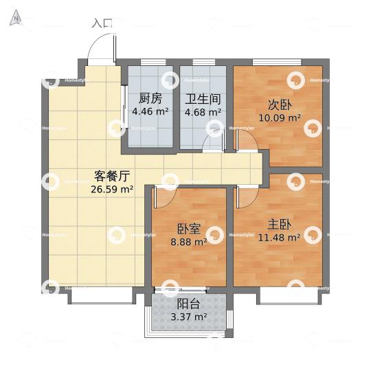 荣盛·锦绣学府111户型图