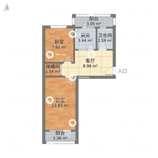 鲁谷74号院户型图