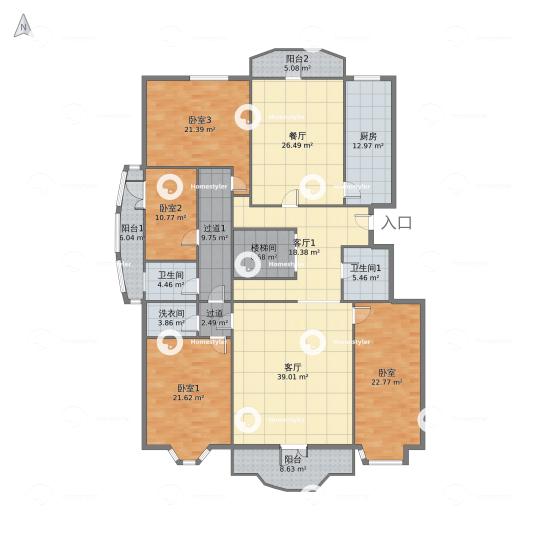 万泉新新家园一层户型图