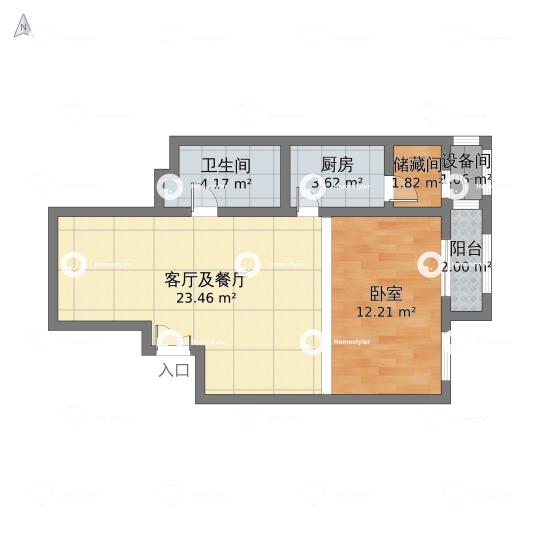 中海城香克林户型图