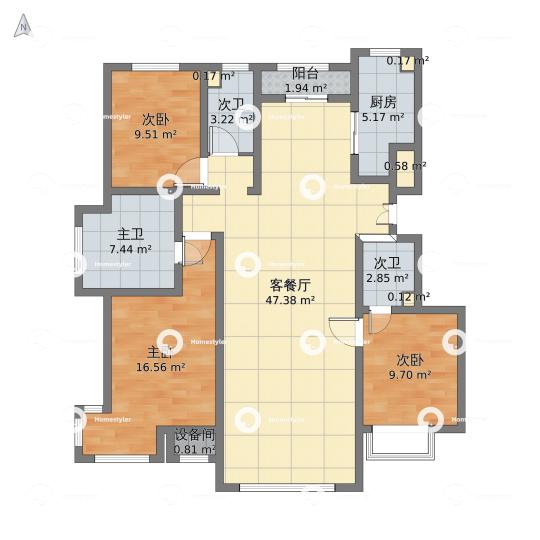 泰禾・1号公馆户型图