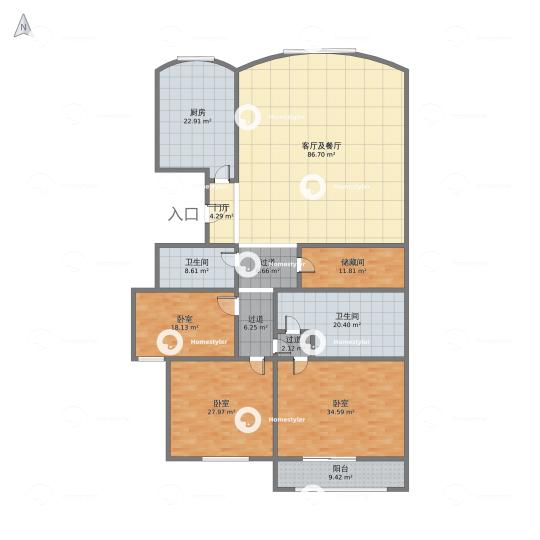 万泉新新家园户型图