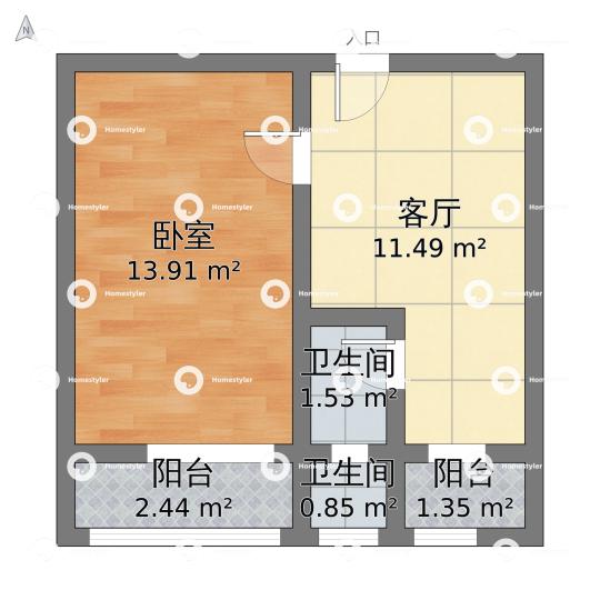 木樨地北里户型图