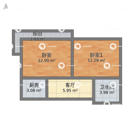 闵庄路65号院户型图