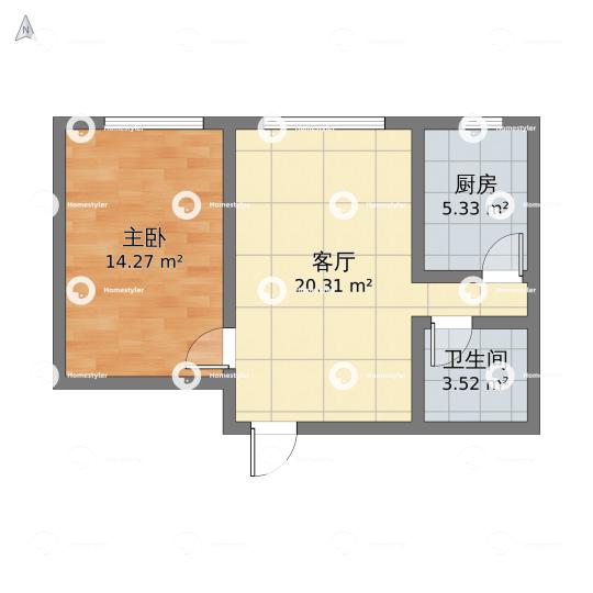 市丰台区和光里2单元3号楼402室A户户型图