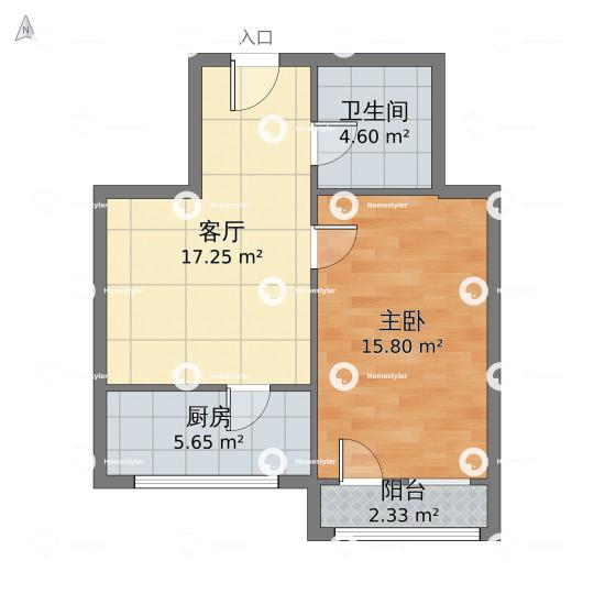 半壁店六建宿舍小区户型图