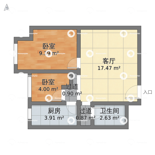 华业东方玫瑰小区户型图