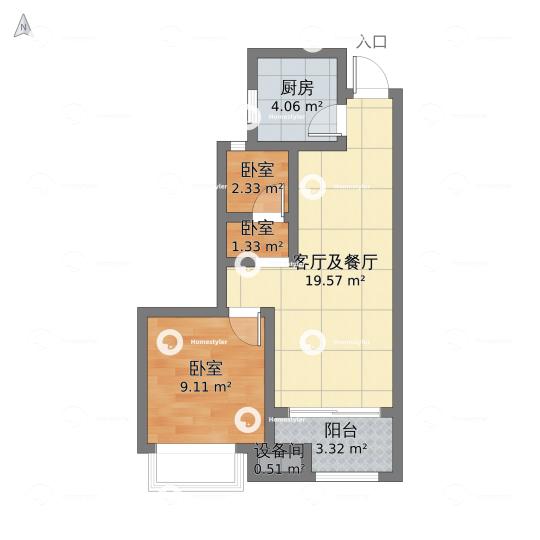 中铁西城北区户型图