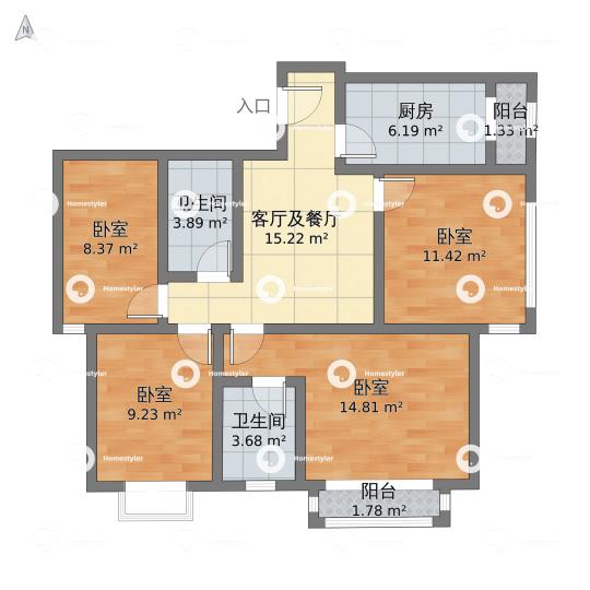 北京新天地小区户型图